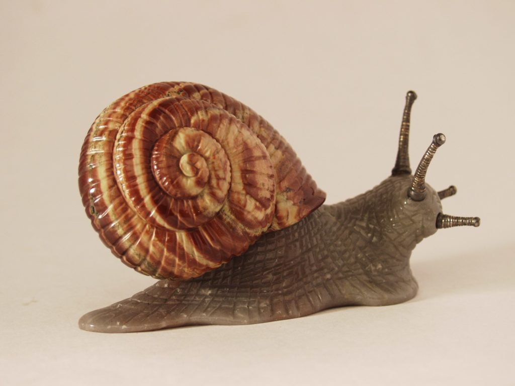 Gemstone artwork Snail by artist Dmitriy Emelyanenko