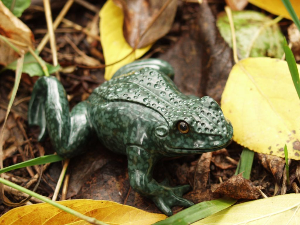 Gemstone carving work Frog by artist Dmitriy Emelyanenko