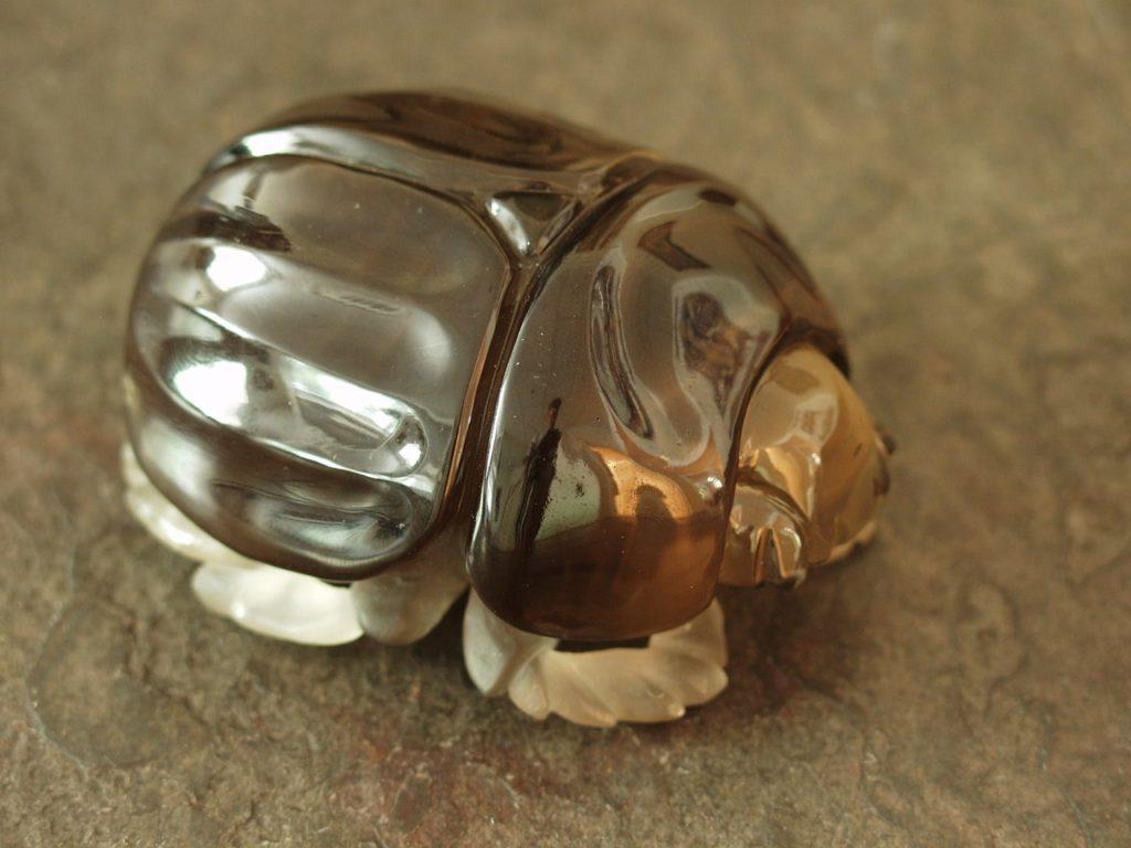 Gemstone carving work Scarab beetle by Dmitriy Emelyanenko