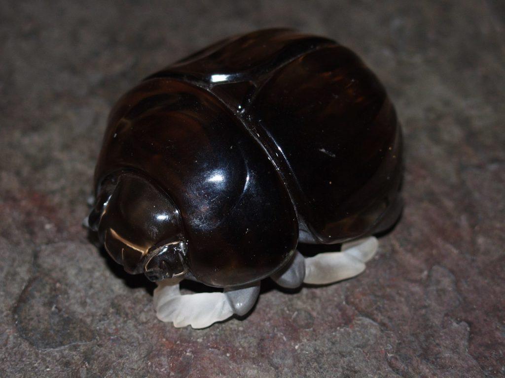 Gemstone cutting work Scarab beetle by Dmitriy Emelyanenko