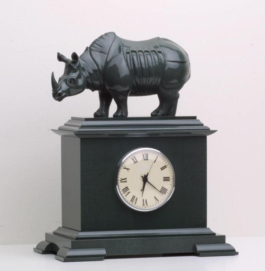 Hardstone carving artwork Durer Rhinoceros by hardstone carver artist Dmitriy Emelyanenko