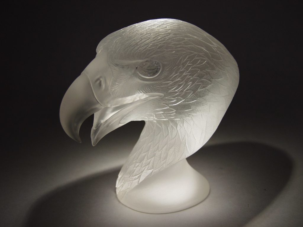 Hardstone carving artwork Falcon by Dmitriy Emelyanenko