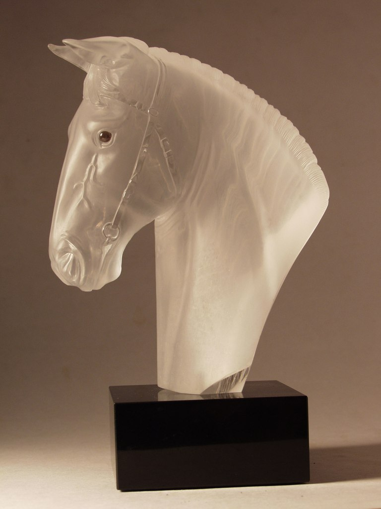 Hardstone carving artwork Horse head by artist Dmitriy Emelyanenko