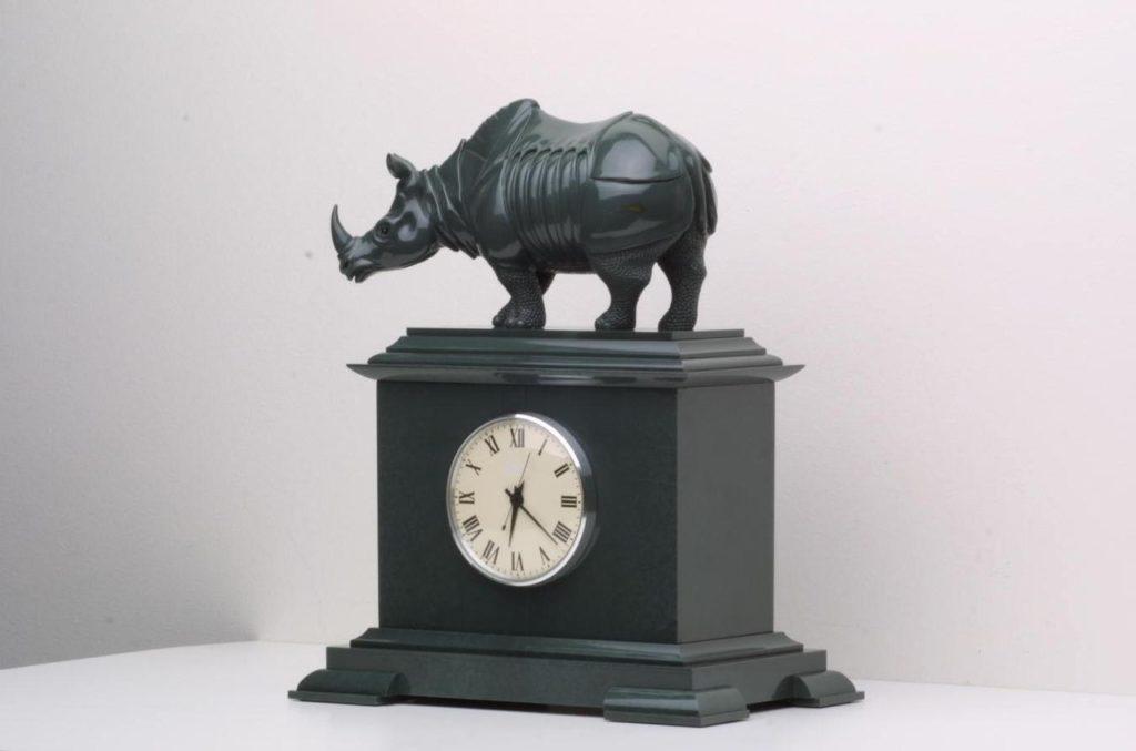Hardstone carving work Durer Rhinoceros by Dmitriy Emelyanenko