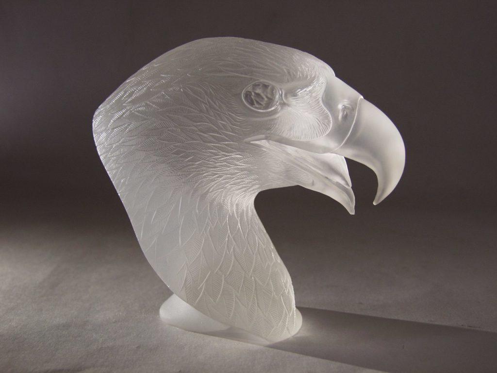 Hardstone carving work Falcon by artist Dmitriy Emelyanenko
