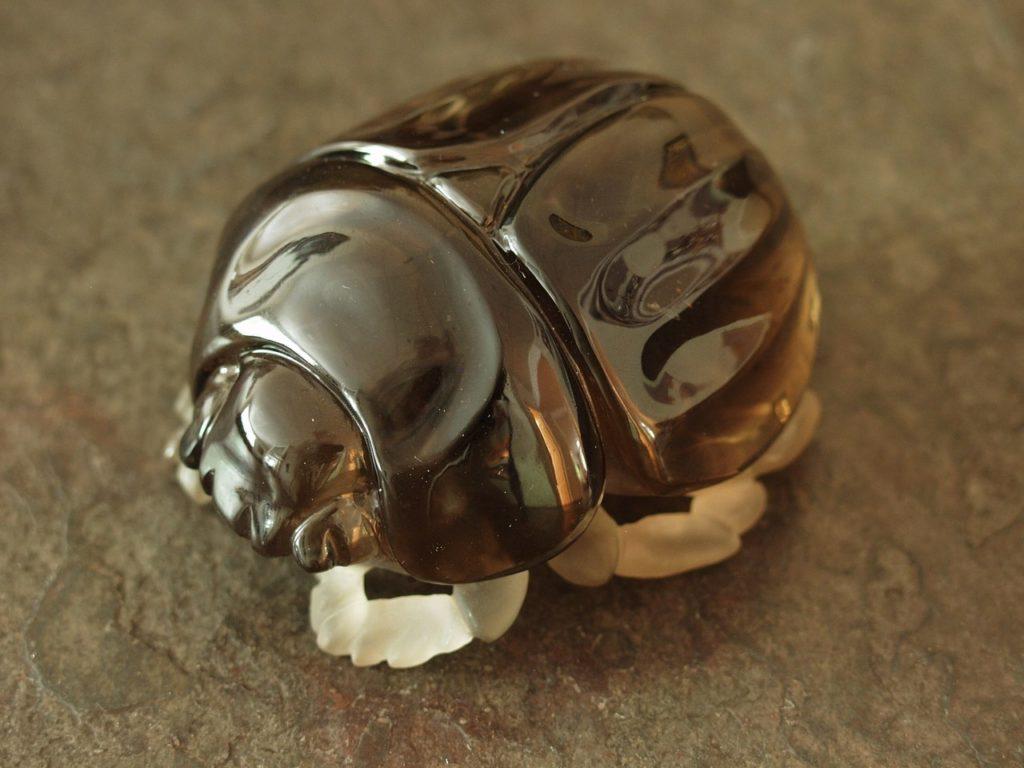 Hardstone carving work Scarab beetle by Dmitriy Emelyanenko