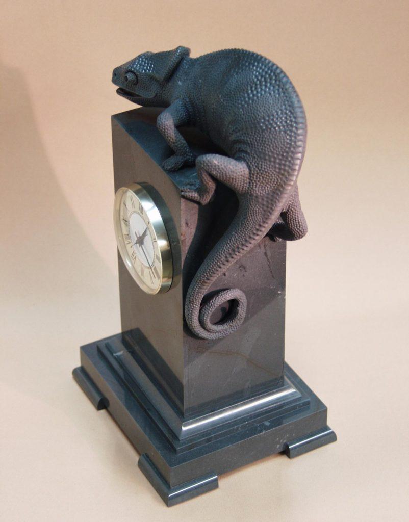 Stone artwork Chameleon by Dmitriy Emelyanenko