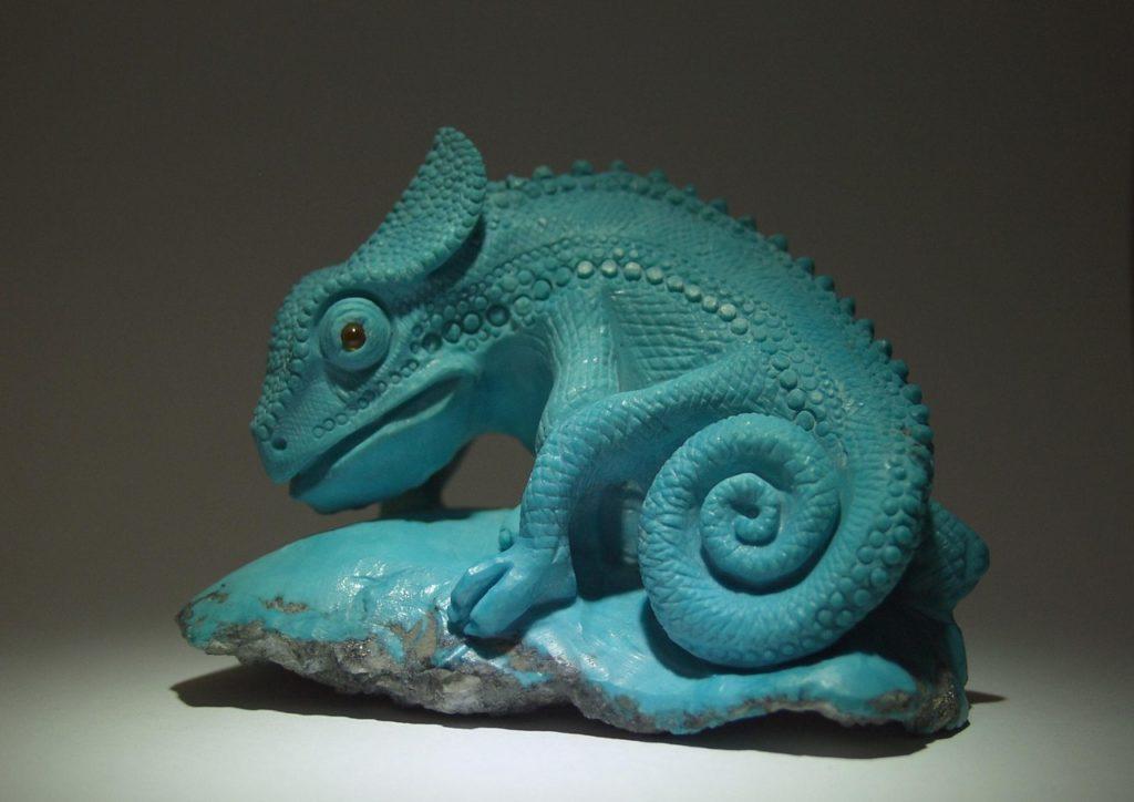 Stone carving work Chameleon by Dmitriy Emelyanenko