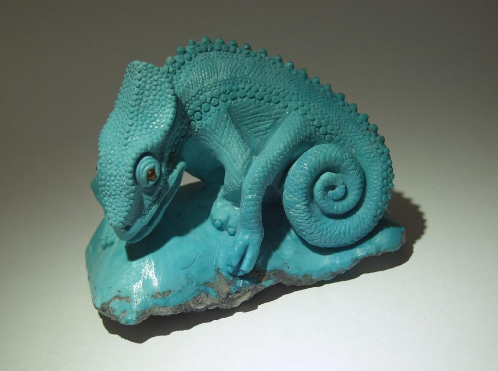 Stone cutting work Chameleon by Dmitriy Emelyanenko