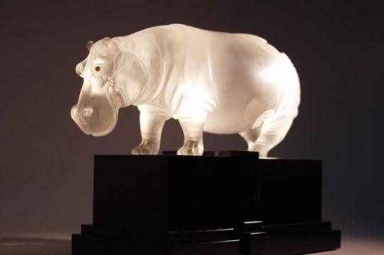Quartz stone hippo by Dmitriy Emelyanenko