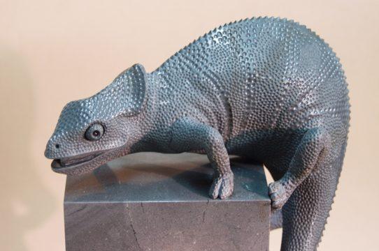 Stone carving chameleon by Dmitriy Emelyanenko