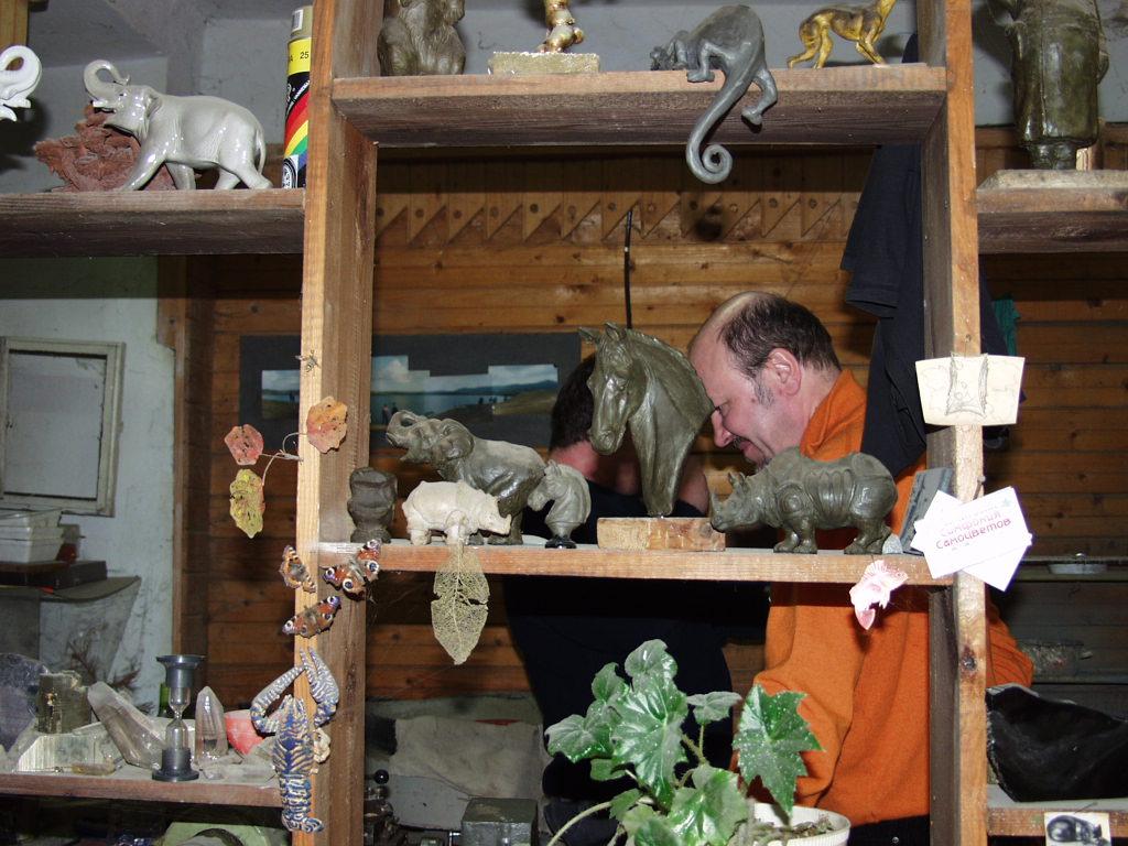 Юрий Якутин в гостях у художника-камнереза, мастера камнерезного искусства Дмитрия Емельяненко